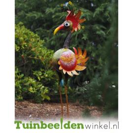 Metalen tuinbeeld figuur ''De indrukwekkende vogel'' TBW16028