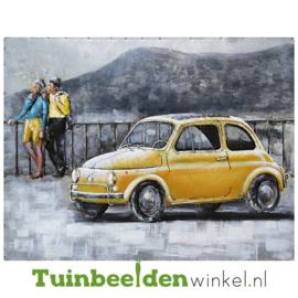 """Auto schilderij """"De gele fiat"""" TBW001434"""