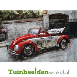 """Metalen schilderij """"De kever cabrio"""" TBW1154sc 80x120 cm"""