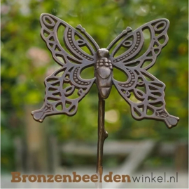 Tuinsteker brons ''Bronzen vlinder'' BBW1440