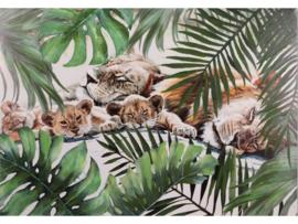 """Olieverf schilderij dieren """"Leeuwen familie"""" TBW21192sc"""