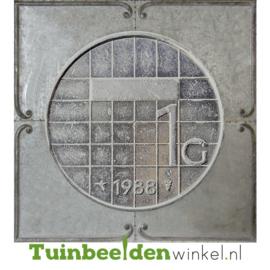 """Zinken schilderij """"De gulden 1988"""" TBW001zksc"""