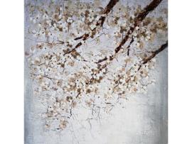 """Olieverf schilderij """"Bloezem"""" TBW5663sc  100x100 cm"""
