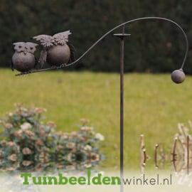 """Metalen uil """"De bloemetjes uilen"""" TBW15158me"""