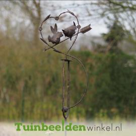 """Metalen tuinbeeld figuur """"De verliefde vogeltjes"""" TBW18830me"""