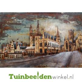 """Metalen schilderij """"Het mooie stadsaanzicht"""" TBW000799 80x120 cm"""