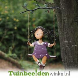 Metalen figuur ''Het kleine schommelende meisje'' TBW12105