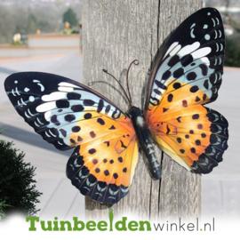 Metalen vlinder ''Oranje en zwart gekleurde vlinder'' TBW0871pr68