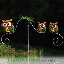 "Tuinsteker ""De drie uiltjes"" TBW16007me"