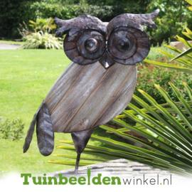 Dieren tuinbeeld ''De grijze uil'' Tbw0871pr66