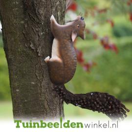 Metalen tuinbeeld figuur ''De speelse eekhoorn'' TBW12052