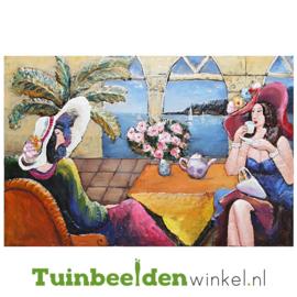 """3D schilderij """"Het theekransje"""" TBW001443"""