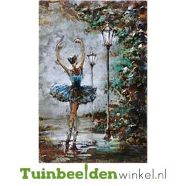 """Metalen schilderij """"Prima ballerina"""" TBW001033 80x120 cm"""