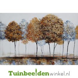 Olieverf schilderij landschap ''Aan de rand van het bos'' TBW006143