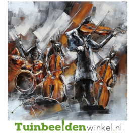 """Metalen schilderij """"De violisten"""" TBW000287"""