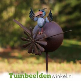 Metalen tuinbeeld figuur ''Het kleine vogeltje'' TBW17032me