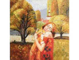 Olieverf schilderij vrouw