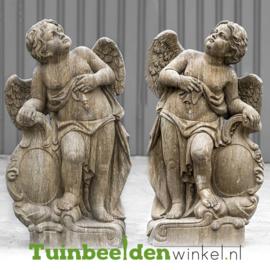"""Engelen beeld """"Set nadenkende engelen"""" op sokkel TWB3br226brset"""