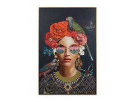 """Olieverf schilderij vrouw """"Uniek"""" TBW27344sc"""