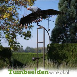 Metalen tuinbeeld figuur ''De vliegende adelaar'' TBW17166