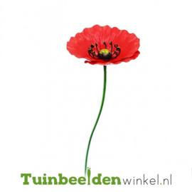 Metalen bloem ''Kleine rode papaver'' Tbw0871pr105