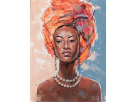 """Olieverf schilderij vrouw """"Afrikaanse vrouw"""" TBW60038sc"""