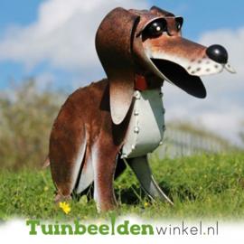 Dieren tuinbeeld ''De blije hond'' Tbw0871pr22