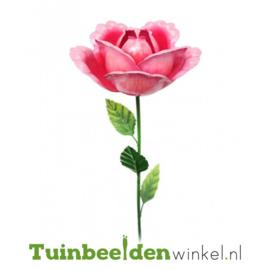 Metalen bloem ''Roze roos'' Tbw0871pr95