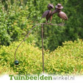 Tuinsteker roest ''De twee kraaien'' TBW17628