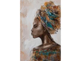 """Olieverf schilderij vrouw """"Krachtige vrouw"""" TBW60034sc"""