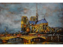 """3D schilderij """"Het karakteristieke gebouw"""" TBW001363sc"""