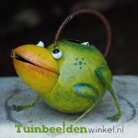 "Metalen kikker ""De vrolijke kikker"" TBW16023me"
