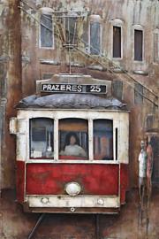 """Metalen schilderij """"De tram"""" TBW609002sc"""
