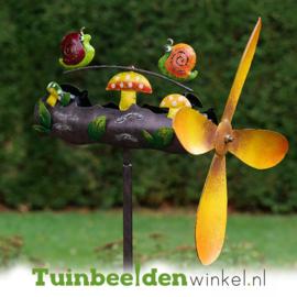 Metalen tuinbeeld figuur ''De twee slakken'' TBW16083