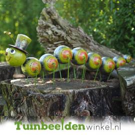 Metalen tuinbeeld figuur ''De vrolijke rups 2'' TBW16106