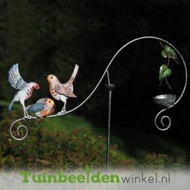 """Metalen tuinbeeld figuur """"De drie vogeltjes"""" TBW16006me"""