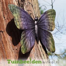 """Metalen vlinder """"De paarse vlinder"""" TBW13035me"""