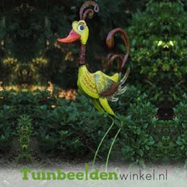 """Metalen tuinbeeld figuur """"De bijzondere eend"""" TBW16020me"""
