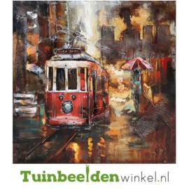 """Metalen schilderij """"De tram"""" TBW000117"""