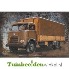 """Metalen schilderij """"De vrachtwagen"""" TBW80120071sc 80x120 cm"""