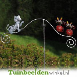 Tuinsteker balans ''De kat en zijn prooi'' TBW16008