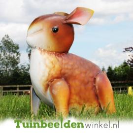 Dieren tuinbeeld ''Het bruine baby konijn'' Tbw0871pr36