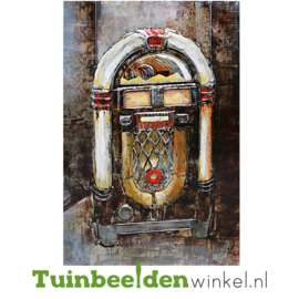 """Metalen schilderij """"De jukebox"""" TBW001153sc 120x80 cm"""