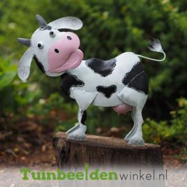 """Metalen tuinbeeld figuur """"De lachende koe """" TBW16041me"""