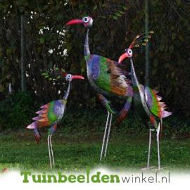 Tuinbeelden ''De drie pauwen'' metaal TBW16100-101-102