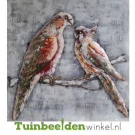 """Vogel schilderij """"Twee vogels op een tak"""" TBW000894"""