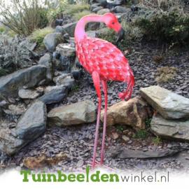 Dieren tuinbeelden ''De roze flamingo 2'' Tbw0871pr18