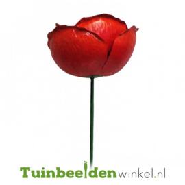 Metalen bloem ''Grote rode papaver'' Tbw0871pr111