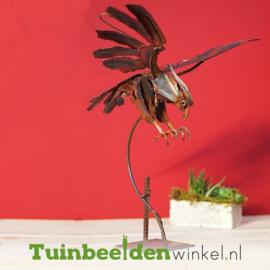 """Metalen tuinbeeld figuur """"De roofvogel"""" TBW310006me"""