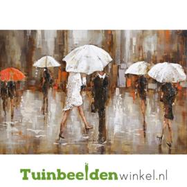 """3D schilderij """"Schuilen voor de regen"""" TBW000322"""